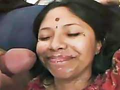 Indian teen gets sticky jizz all over her face